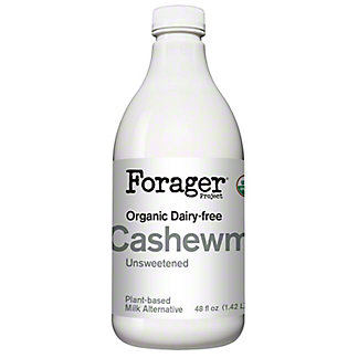 Forager Project Organic Unsweetened Plain Cashewmilk, 48 oz