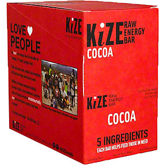 Kize Raw Energy Bar Cocoa, 10 pk
