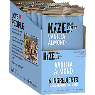 Kize Vanilla Almond Bar, 10 pok