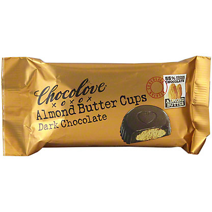 Chocolove Almond Butter Cups Dark Chocolate,1.2OZ