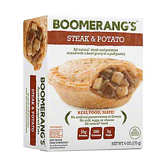 Boomerang's Steak & Potato Pie, 6 oz
