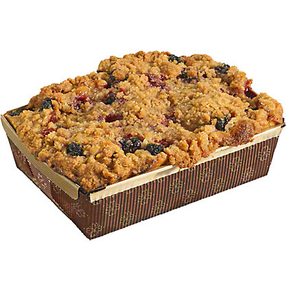 Central Market Peach Blackberry Coffee Cake, 21 oz
