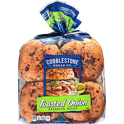 Cobblestone Bread Co. Toasted Onion Buns, 15 oz