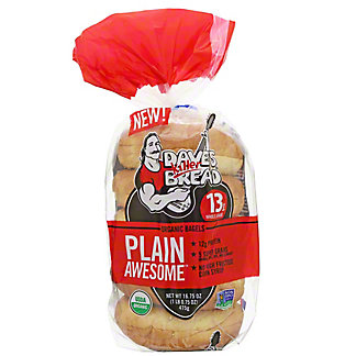 Daves Killer Bread Plain Awesome Bagel, 16.75 oz
