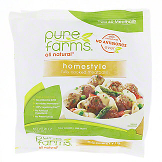 Pure Farms All Natural Homestyle Meatballs, 20 oz