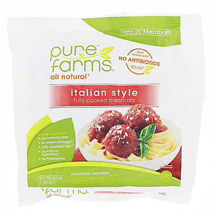 Pure Farms All Natural Italian Meatballs, 20 oz