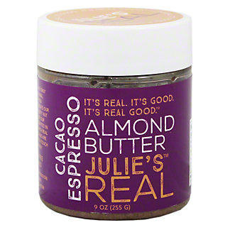 Julies Real Cacao Espresso Almond Butter, 9OZ