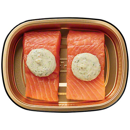 H-E-B Meal Simple Salmon with Garlic Butter,10 oz