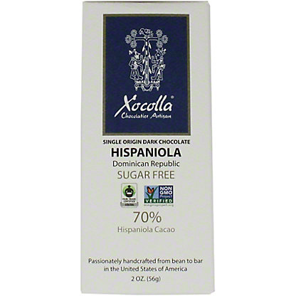 Xocolla Sugar Free Chocolate Hispaniola, 2 oz