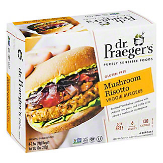 Dr. Praegers Mushroom Veggie Burger, 4 ct