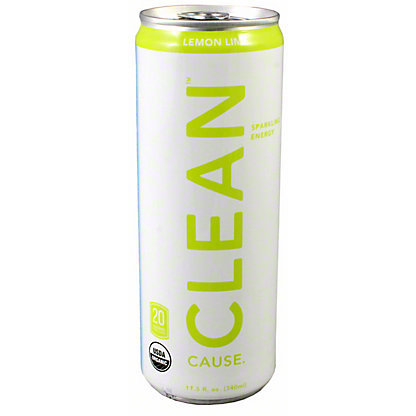 Clean Cause Lemon Lime Energy Drink,12 OZ