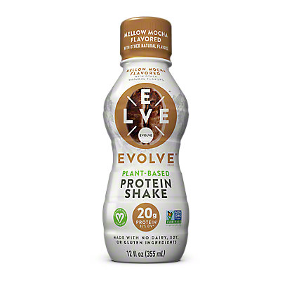 Evolve Protein Shake Mellow Mocha Flavored, 12 oz