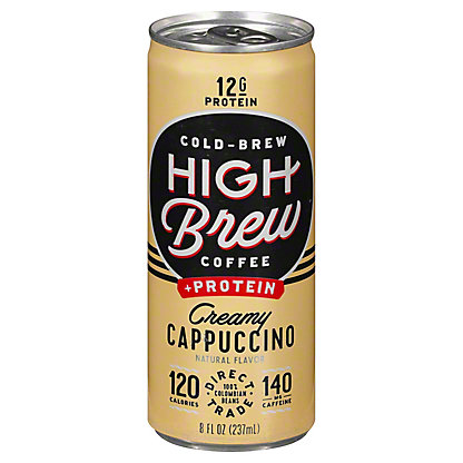 High Brew Coffee + Protein Creamy Cappucino,8 oz