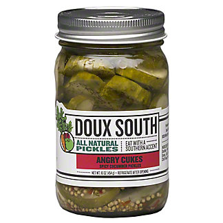 Doux South Angry Cukes Sliced,16OZ