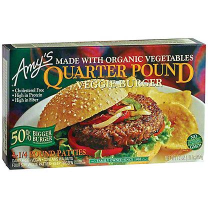 Amys Veggie Burger Quarter Lb., 4.00 ea