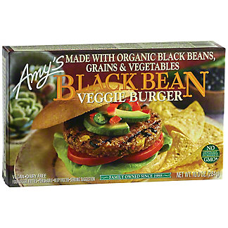 Amys Burger Veggie Black Bean, 4.00 ea