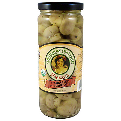 Paesana Organic Marinated Mushrooms, 16 OZ