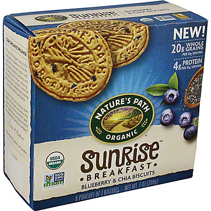 Natures Path Organic Sunrise Breakfast Blueberry & Chia Biscuits, 7 oz
