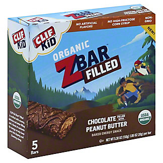 Clif Kid Zbar Filled Chocolate Peanut Butter, 5 ct