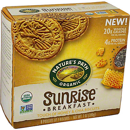 Nature's Path Organic Sunrise Breakfast Honey & Chia Biscuits, 7 oz