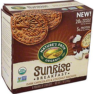 Nature's Path Organic Sunrise Breakfast Dark Chocolate & Coconut Biscuits, 7 oz