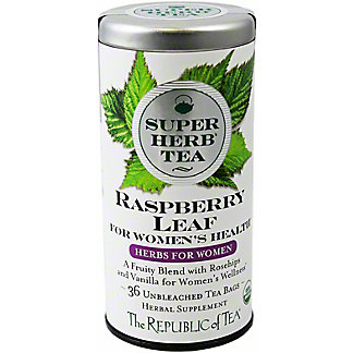 The Republic Of Tea Organic Raspberry Leaf Superherb Tea, 36 ct