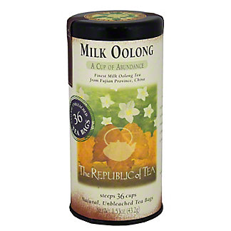 The Republic of Tea Milk Oolong Tea Bags,36.00 ea