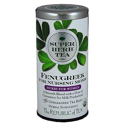 The Republic Of Tea Organic Fenugreek Superherb Tea for Nursing Moms, 36CT