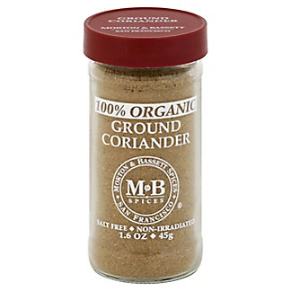 Morton & Bassett Organic Ground Coriander, 1.60 oz