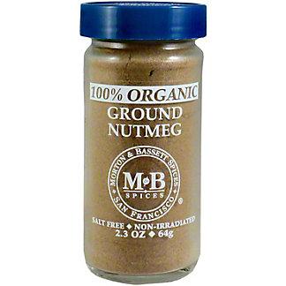 Morton & Bassett Organic Ground Nutmeg, 2.30 oz