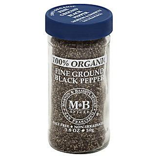 Morton & Bassett Organic Fine Ground Pepper, 1.80 oz