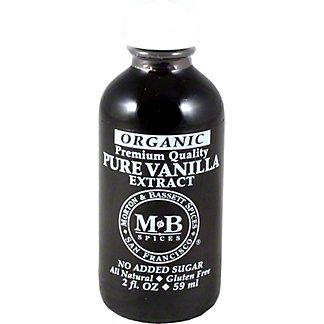 Morton & Bassett Organic Vanilla Extract, 2.00 oz