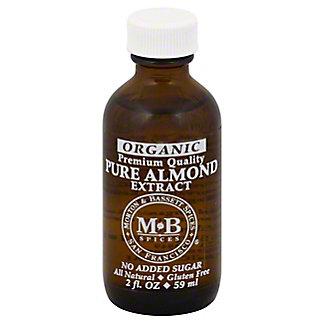 Morton & Bassett Organic Almond Extract, 2 oz
