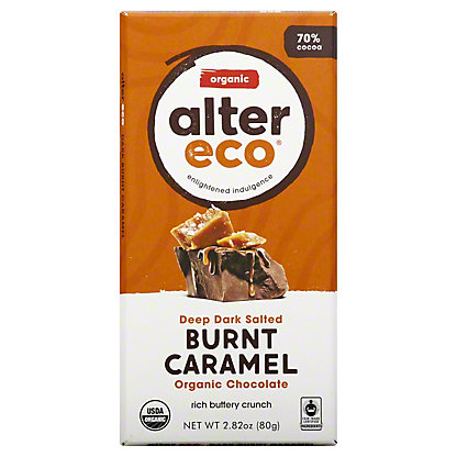 Alter Eco Organic Dark Salted Caramel Bar,2.82 oz