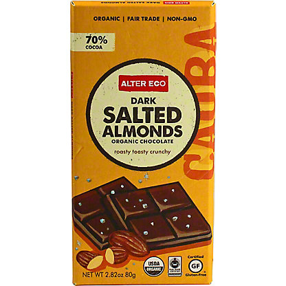 Alter Eco Organic Dark Salted Almond Bar,2.8 OZ
