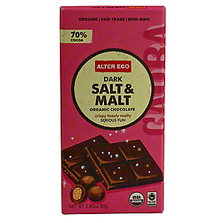 Alter Eco Organic Dark Salt & Malt Bar,2.8 OZ