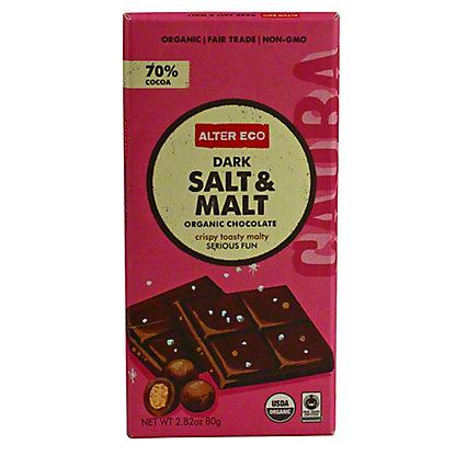 Alter Eco Organic Dark Salt & Malt Bar,2.8 OZ