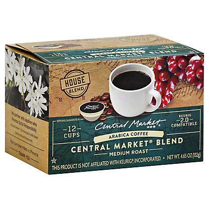 Central Market Central Market Blend Single Serve Coffee Cups, 12 ct