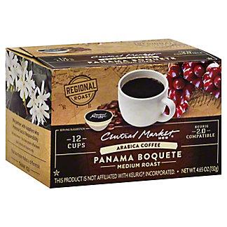 Central Market Panama Boquete Medium Roast Single Serve Coffee Cups, 12 ct