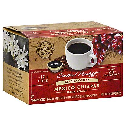 Central Market Mexico Chiapas Dark Roast Single Serve Coffee Cups, 12 ct