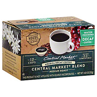 Central Market Central Market Blend Decaf Medium Roast Single Serve Coffee Cups, 12 ct