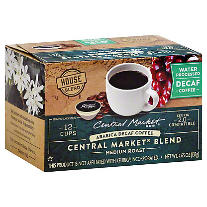 Central Market Central Market Blend Decaf Medium Roast Single Serve Coffee Cups, 12 ct