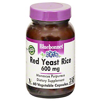 Bluebonnet Red Yeast Rice 600 mg Vegetable Capsules, 60 ct