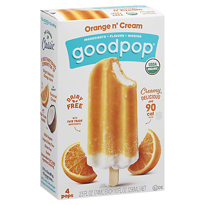 GoodPop Orange N' Cream, 4 ct