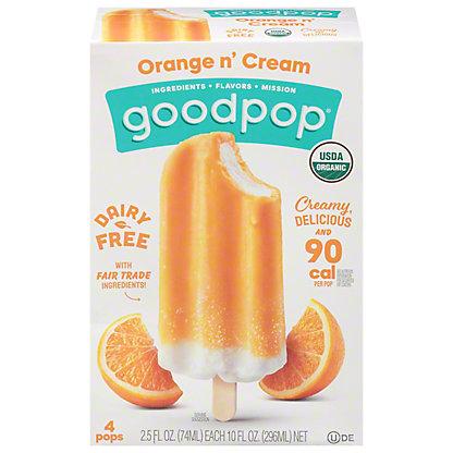 GoodPop Orange N' Cream, 4 ct