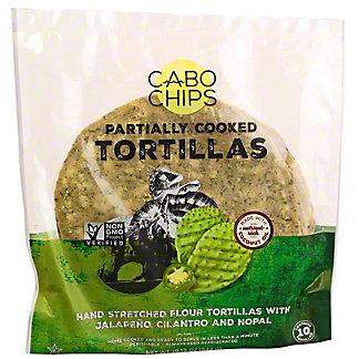Cabo Chips Flour Tortillas Jalapeno Cilantro & Nopal, 19.12O