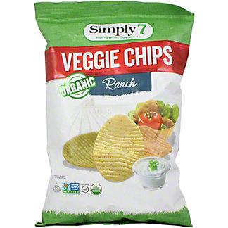 Simply 7 Organic Ranch Veg Chips, 4 oz