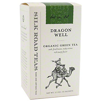 Silk Road Tea Organic Dragon Well, 15 ct