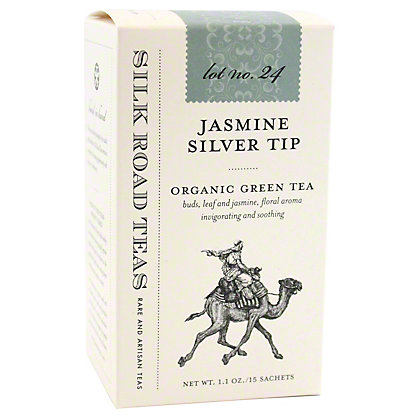 Silk Road Tea Organic Jasmine Silver Tip, 15 ct