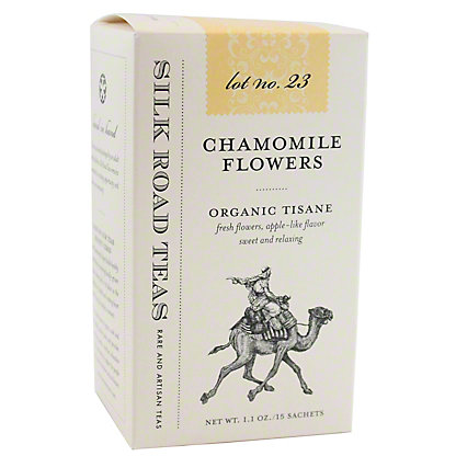 Silk Road Tea Organic Chamomille Flower, 15 ct